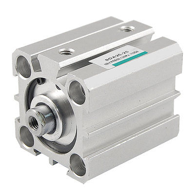 SDA 25mm Bore 25mm Stroke Compact Pneumatic Air Cylinder  Free Shipping