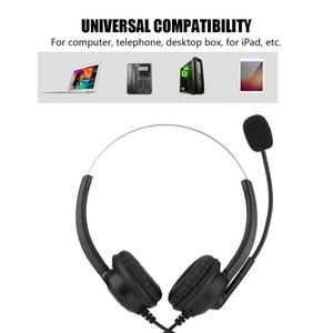 Image 4 - Call Center Headset Noise Cancelling Headphone With Crystal USB 3.5/2.5MM Plug For Customer Service/Game/PC Headphones Brand New
