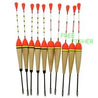 40pcs/set Collection Fishing Bobbers Cork Floats Kit Antenna Balsa Wood 17.5cm/6.9in 2g 3g