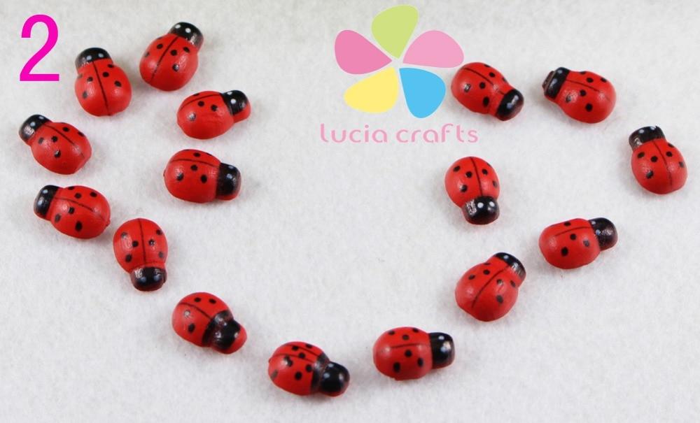 Lucia crafts Multi Sizes Option Painted Cartoon Ladybug Sponge Stickers Self Adhesive Micro Landscape Crafts 23010026