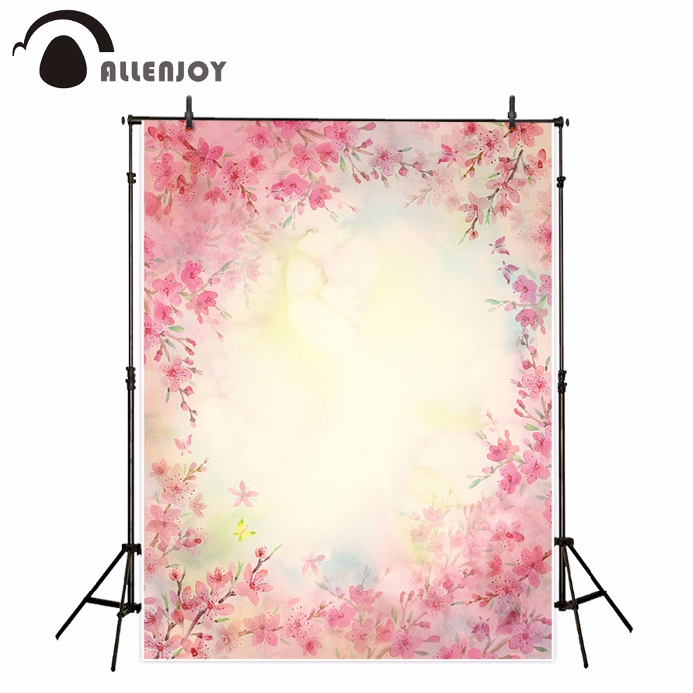 Bokeh Flowers Wedding: Allenjoy Pink Bokeh Flower Photography Spring Wedding