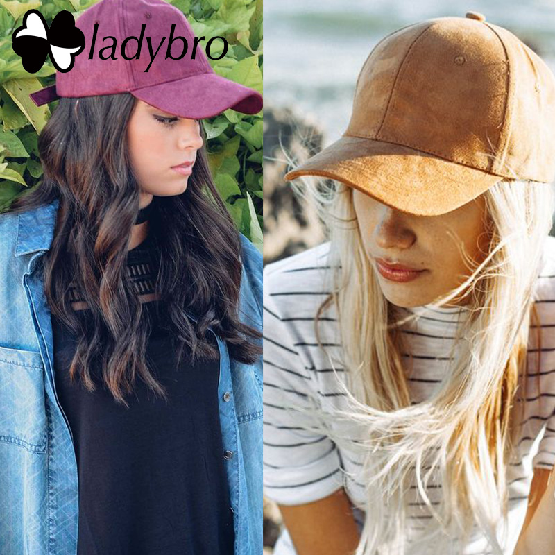 Ladybro High Quality Baseball Cap Casual Brand Women Men Black Pink Suede Cap Ladies Dad Hat Cap Snapback Male Female Bonnet chemo skullies satin cap bandana wrap cancer hat cap chemo slip on bonnet 10 colors 10pcs lot free ship