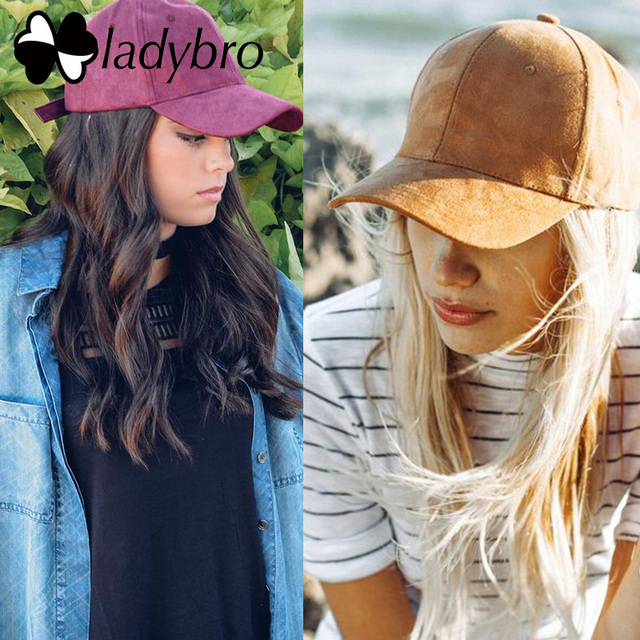 Ladybro High Quality Baseball Cap Casual Brand Women Men Black Pink Suede Cap Ladies Dad Hat Cap Snapback Male Female Bonnet