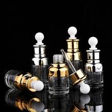 1 шт. стеклянная капельница для ароматерапии, жидкая капельница для эфирного Пипетка для масел, бутылочки многоразового использования, 20-50 мл, высокое качество