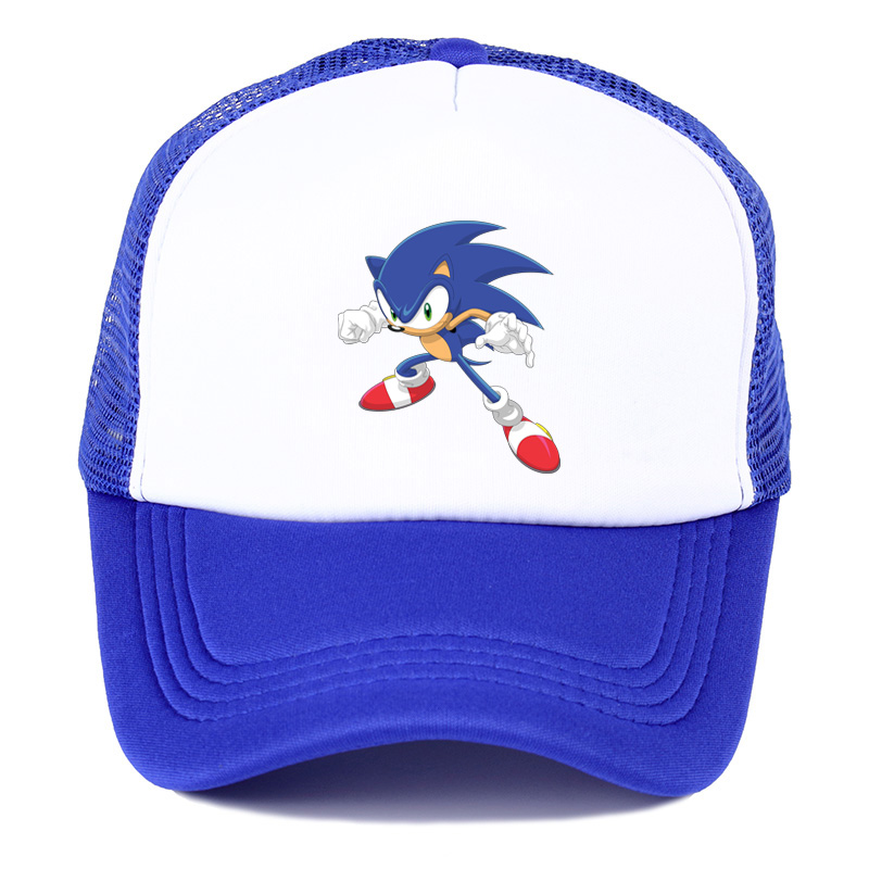 Popular Game Animation Sonic The Hedgehog Summer Nets Nets Hat Youth Fashion Baseball Hat Spring Breathable Sunshade Cap