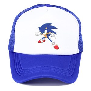 Popular game animation Sonic The Hedgehog summer nets nets hat youth fashion baseball hat spring breathable sunshade cap(China)