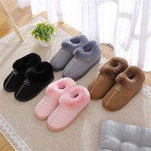 7589eb0303e9 Slippers women 2018 interior house plush soft cotton Slippers Shoes  non-slip floor furry Slippers