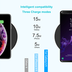 Image 4 - 15 ワット高速ワイヤレス充電器、 nillkin チー高速ワイヤレス充電パッド繊維 iphone XS 最大/XS/8/8 プラスサムスン s9/注 8/S8/S8 +
