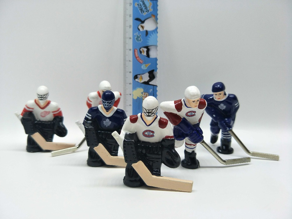 pvc figure Canada Ice Hockey Doll Decoration Cake Decoration Model Doll Doll Toy 6pcs/set pvc figure the simulation model toy decoration tr ibe doll ornaments 9pcs set