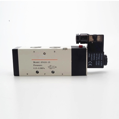4V410-15 two five-way solenoid valve pneumatic control valve Voltage: 110V AC ,220V AC ,380V AC ,24V AC ,12V DC ,24V DC . brass connector 2 way welding machine rotatable solenoid valve ac 24v