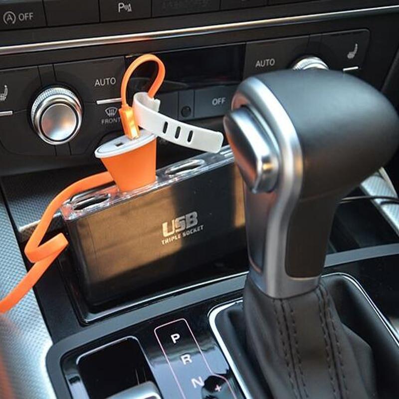 Nuevo diseño Cargador de coche tres Expansin uno USB 12-24v 5A - Accesorios de interior de coche - foto 5