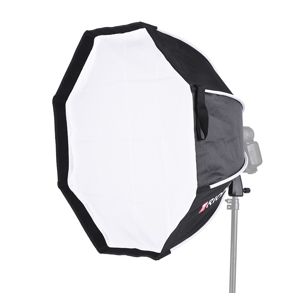 TRIOPO 65cm Foldable 8 Pole Octagon Softbox with Soft Cloth Handle for Godox Yongnuo Andoer On