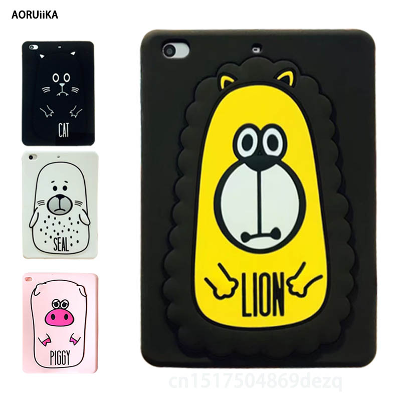 цены For iPad pro 9.7 inch For iPad air 2 soft case child Cute cartoon 3D Silicon Cover coque For ipad 6 Tablet Shell +Stylus pen