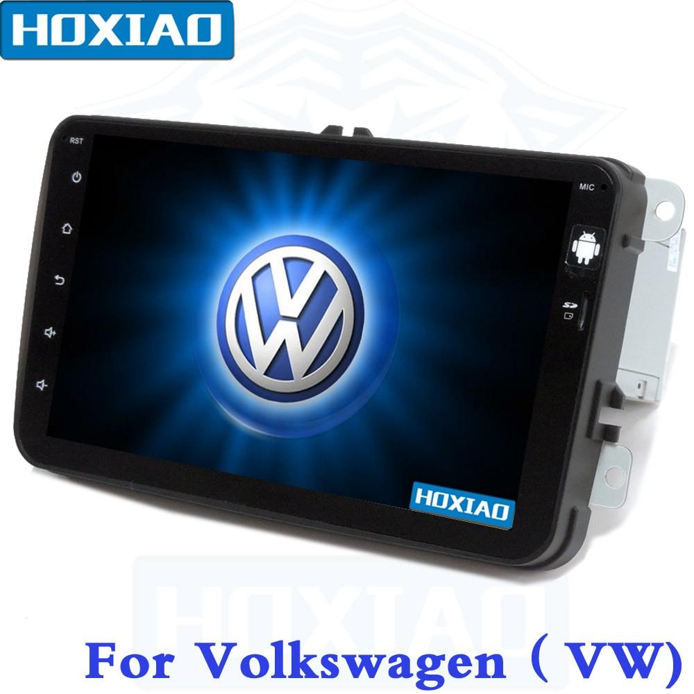 Android 2 Din Car radio GPS For Volkswagen VW GOLF POLO PASSAT CC JETTA TIGUAN TOURAN SCIROCCO T5 Skoda Wifi 16G Quad Core MAP