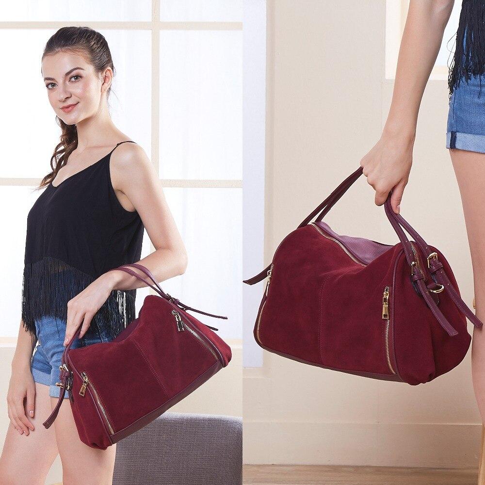 Women Genuine Split Suede Leather