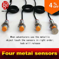 Real Live Room Escape Game Prop Four Metal Sensors Touch In Right Order To Unlock With