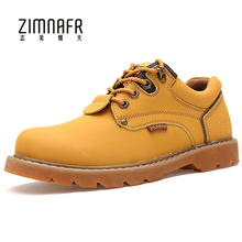 Safety Work Shoes Autumn Low Cut Botas De Inverno Mens Winter Shoes Plush Bota Masculina England Style Fashion Safety Boots 2017