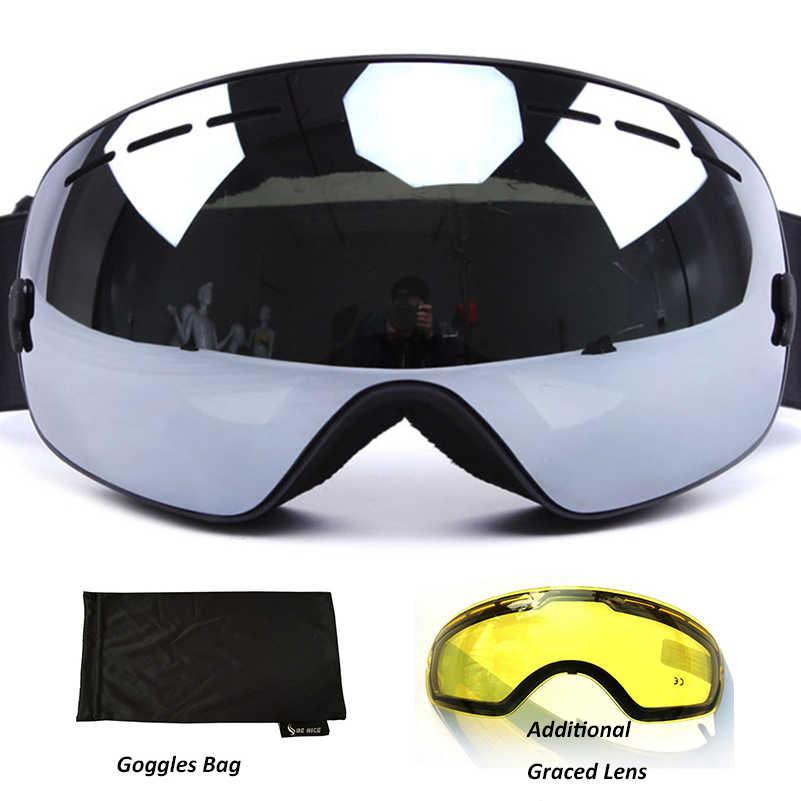 ef58ba9c2e16 Анти-Туман Лыжные очки UV400 поляризационные лыжные очки с двойными Лыжный  спорт Сноуборд Снег очки
