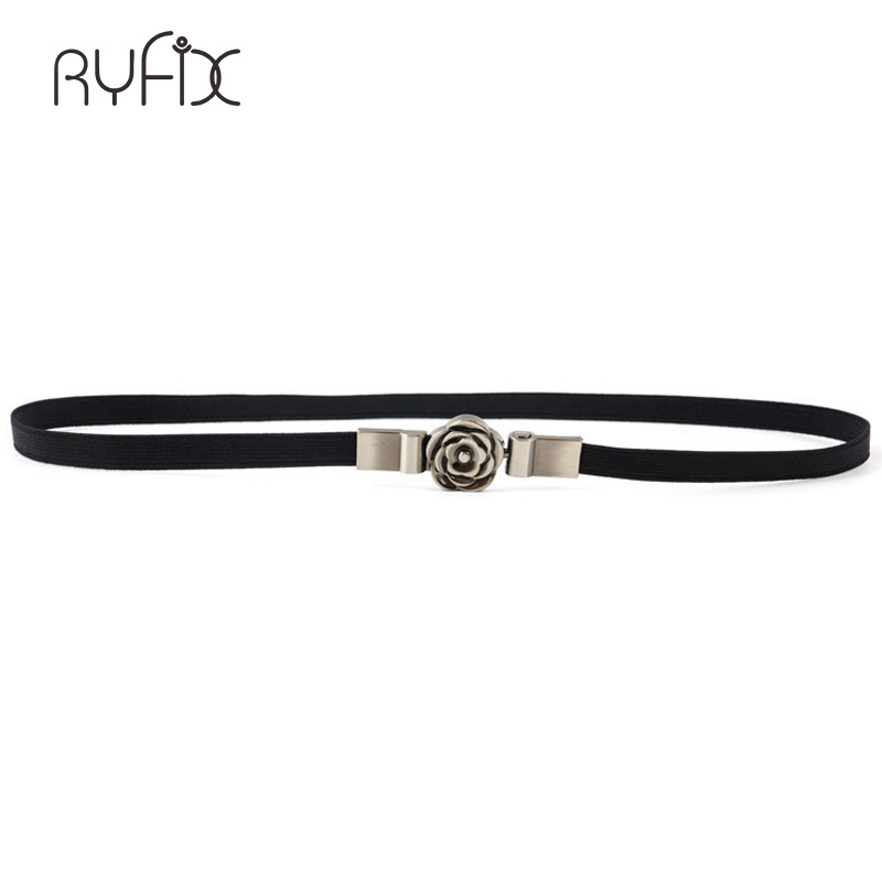 new Flora Buckle Waist Women 39 s Metal Elastic Chain Belt Fashion Young Girl Crystal Gold Belt For Woman dress Coat BL363 in Women 39 s Belts from Apparel Accessories