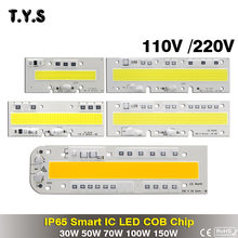 Smart IC High Power LED COB Chip Light Bead 150W 100W 70W 50W 30W 220V 110V Spot Flood Light Diy Spotlight Lighting Bulb Lamp(China)