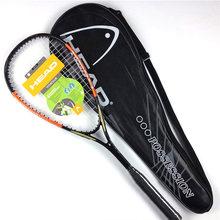 Kafa karbon Squash raketi dize ile kabak çanta pedal Raqueta eğitim aksesuarları duvar topu erkekler kadınlar raquetas de Squash