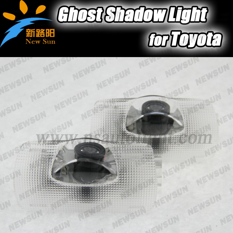 car projector logo light/Ghost shadow light for toyota Camry Crown Corolla Prado Led welcome Laser 3D logo lights direct fit 2x led car door welcome light for toyota corolla emblem logo projector lamp for toyota corolla spoiler estate levin coupe saloon