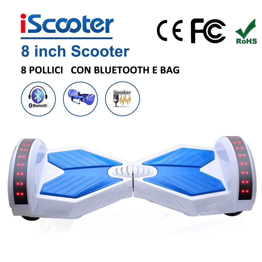 Hoverboard 2 Roue 350 W * 2 Auto Équilibrage Roues 8 & 6.5 pouces haut-parleur bluetooth scooter électrique intelligent Équilibre Hover Bord À Distance