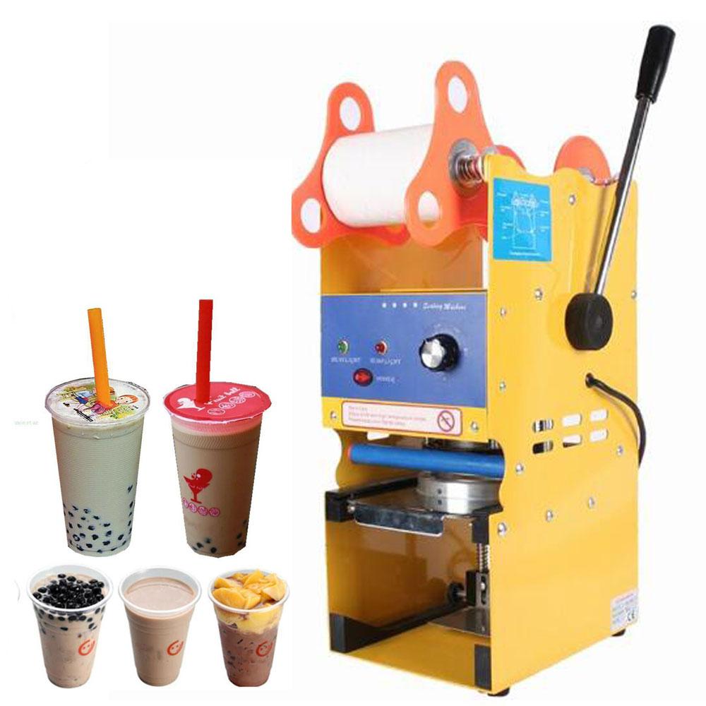 Electric Semi Automatic Tea Cup Sealer Sealing Machine Coffee Bubble