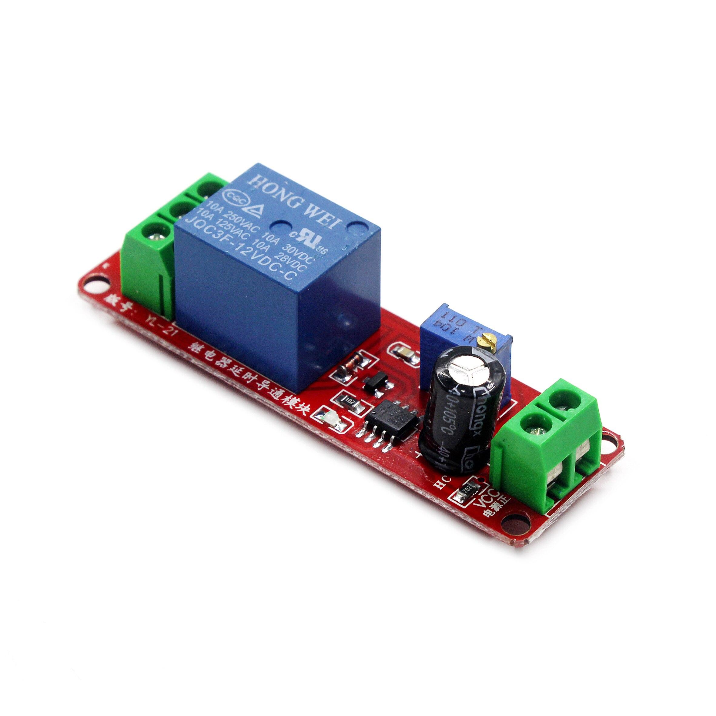 NE555  0~10S Adjustable Module  DC 12V  Delay Relay Shield Timer Switch