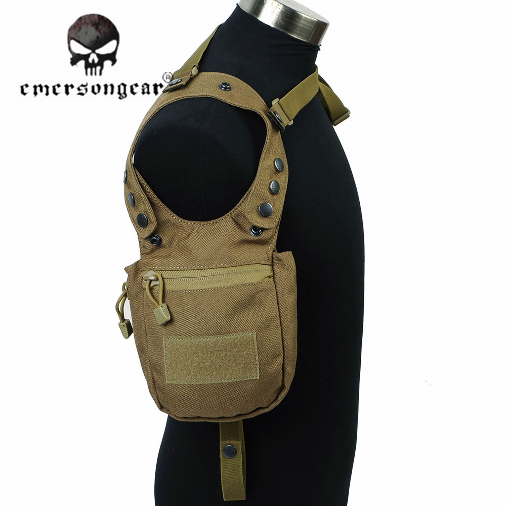 EMERSON 1000D Nylon Tactical Portable Secret Underarm Pouch Camouflage Army Airsoft Shooting Hunting Shoulder Bags Accessory jinjuli nylon tactical pouch