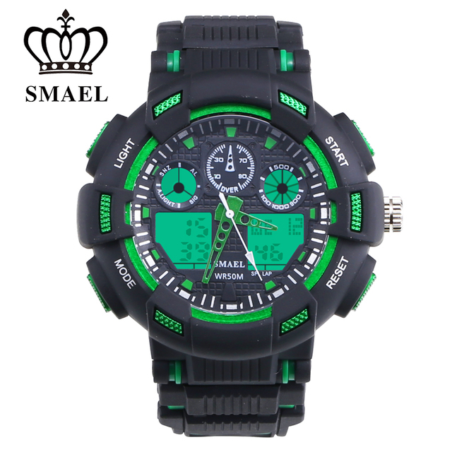 SMAEL Brand LED Digital Military Watch Outdoor Sport Watch for Children Dual Time Wristwatch reloj hombre Casual Watches WS1366