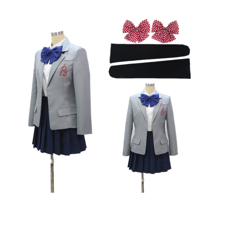 Gekkan Shoujo Nozaki- קון סאקורה Chiyo אנימה Cosplay בית הספר תלבושת אחידה