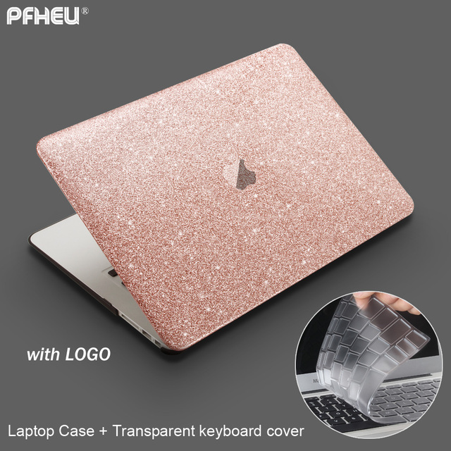 online store 00bd2 76acf US $12.54  for Macbook Air 13.3 Pro Retina 13 inch with Touch Bar New,  PFHEU 2017 2018 Shine Laptop Case + keyboard cover-in Laptop Bags & Cases  from ...
