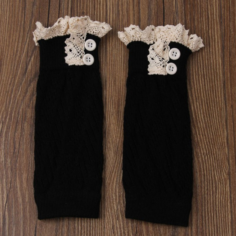 2017 Autumn Spring Baby Lace Knee Socks Leg Warmers With Ruffles Knee Pads For Crawling Babies Toddler Walking Kneepad Socks