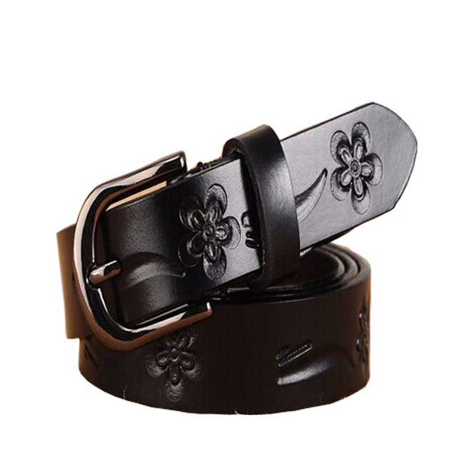 Fashion Print Floral Leather Belts woman spit Leather Belt Buckle Pin Buckle Female Vintage Waistband Jeans Sash Belt Strap Gift