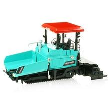 Liga diecast paver máquina pavimentação asfalto estrada caminhão de construção 1:40 engenharia veículo modelo decoração criança brinquedos