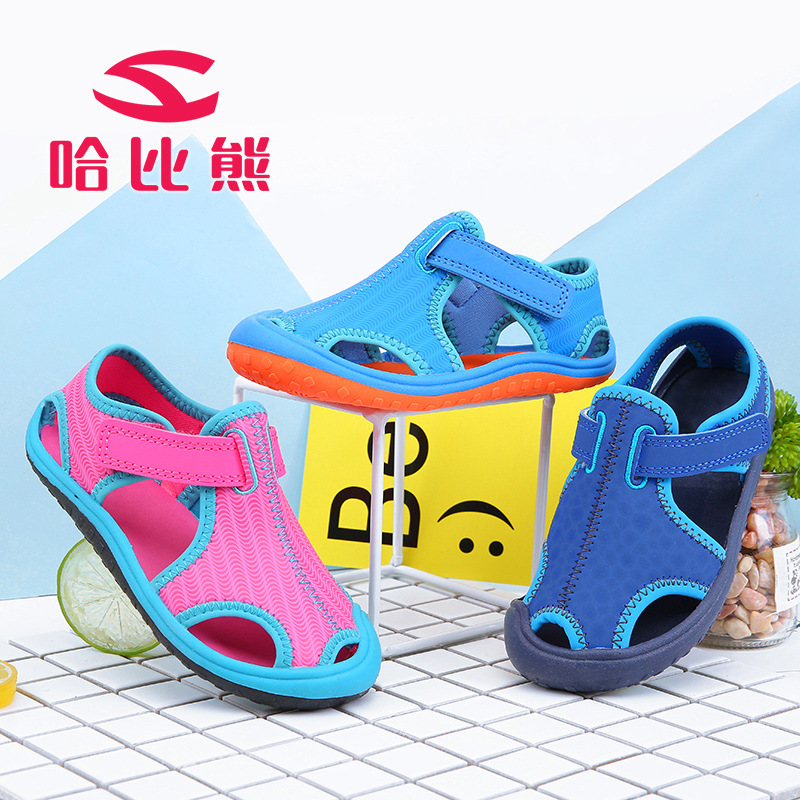 HOBIBEAR 2017 New Summer Kids Sandals Closed Toes Beach Shoes For Girls Sandals Fashion Boys Shoes Summer Sandals Children