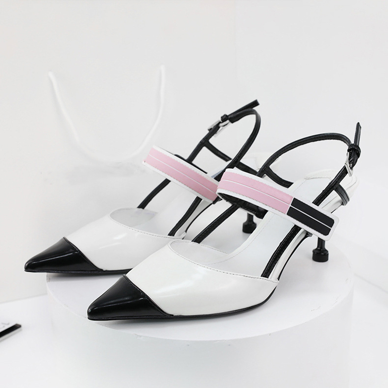 Boussac Pointed Toe Kitten Heel Women Pumps Patchwork Elegant Heel Shoes Women Brand Design Ladies Shoes Women SWC0299