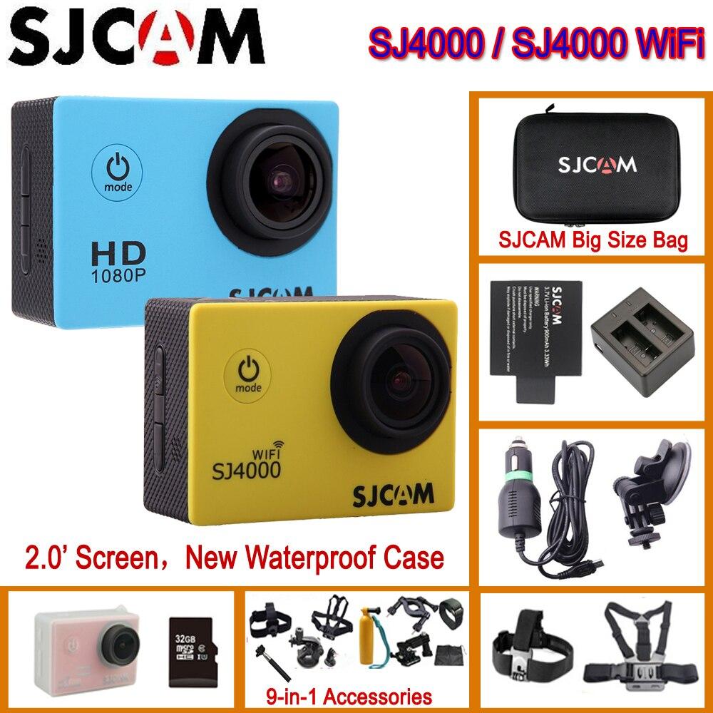 SJCAM SJ4000 SJCAM SJ4000 WiFi Action Helmet Sports DV Camera Waterproof Camera 1080P Sport DV Original
