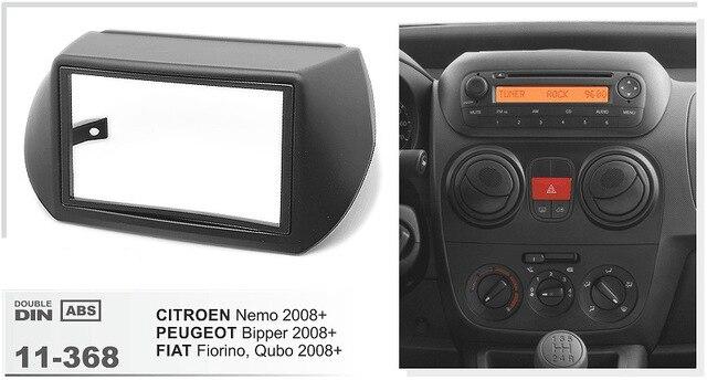 11-368 Top Quality Radio Fascia for CITROEN Nemo/PEUGEOT Bipper/ FIAT Fiorino Stereo Fascia Dash CD Trim Installation Kit