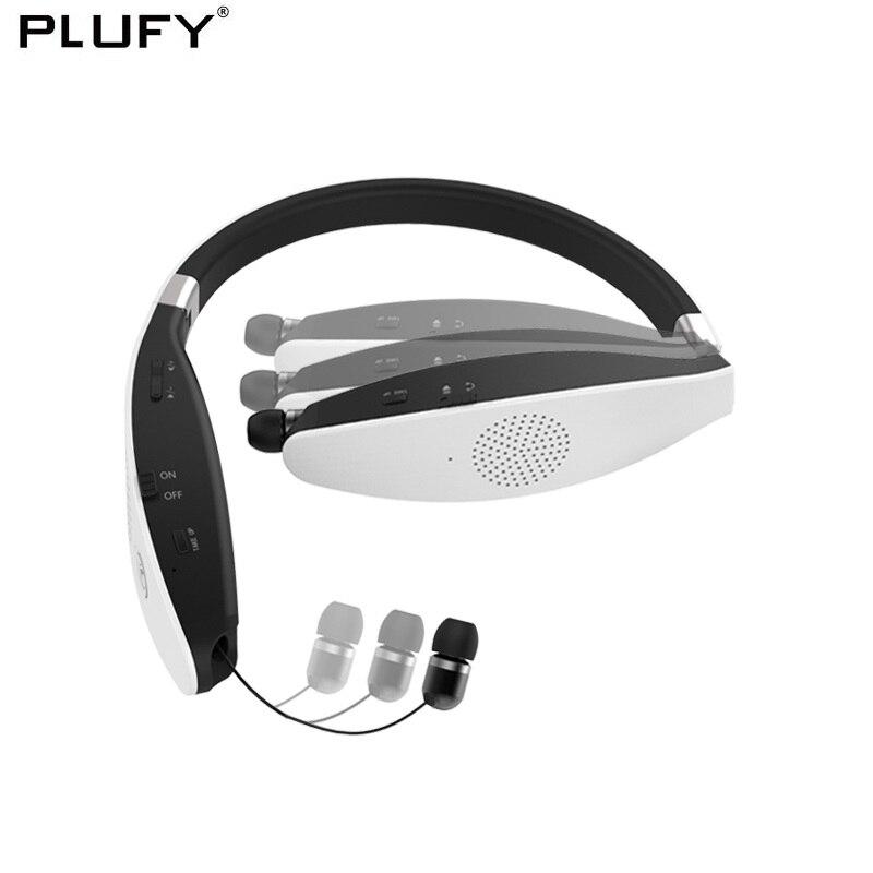 PLUFY Bluetooth CSR4.1 Casque Sans Fil Sport Casque Basse Stéréo Haut-parleurs Écouteurs Avec Mic CVC6.0 Casque