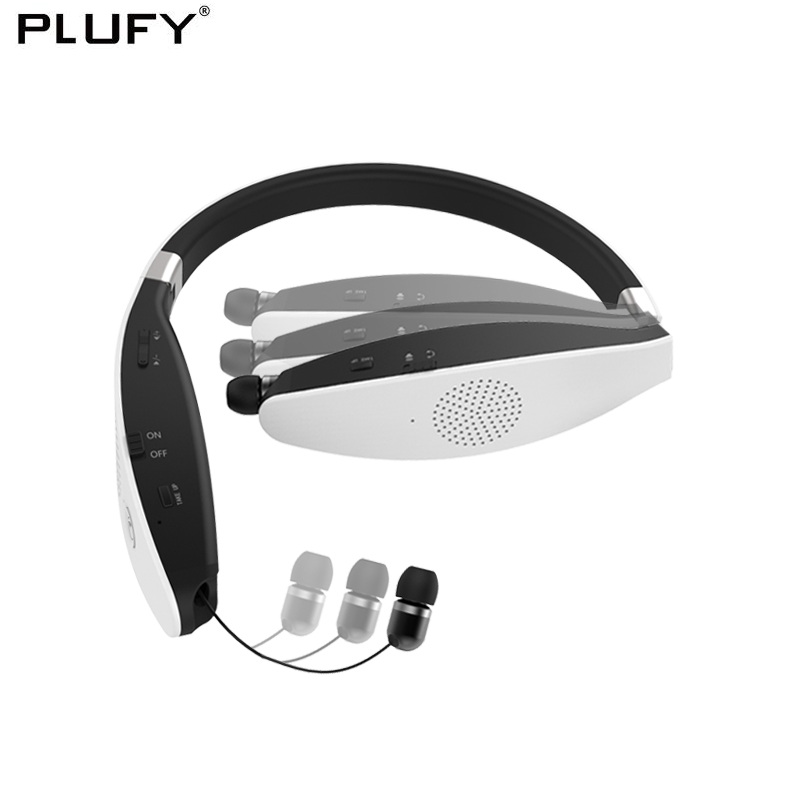 PLUFY Bluetooth CSR4.1 Headphones Wireless Sport Headset Bass Stereo Speakers Earphones With Mic CVC6.0 Headphone wireless bluetooth headphones wireless headset bluetooth 4 1 hifi super bass stereo gaming headphone with mic