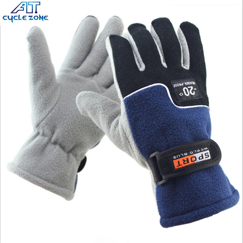 Cycle Zone Bike Gloves Winter Warm TC Fleece Freeze-proofing Full Finger Cycling Glove Motocross Mittens Sports Gloves for Adult