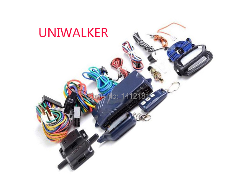 UNIWALKER B 9 Two-way Car Sistema de Alarme Anti-roubo do Assaltante + Chaveiro LCD Controle de Partida Do Motor Para russa StarLine Twage B9