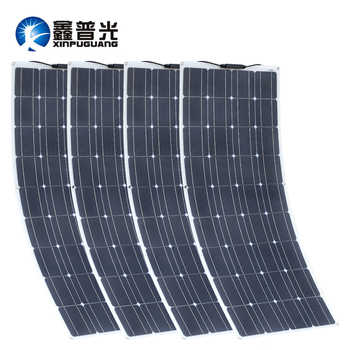 XINPUGUANG 2PCS 4PCS 1175*540mm Solar Panel 18V 100W Mono Cell Flexible Car/Yacht/Steamship 12V 24 Volt 100 Watt Solar Battery - DISCOUNT ITEM  17% OFF All Category