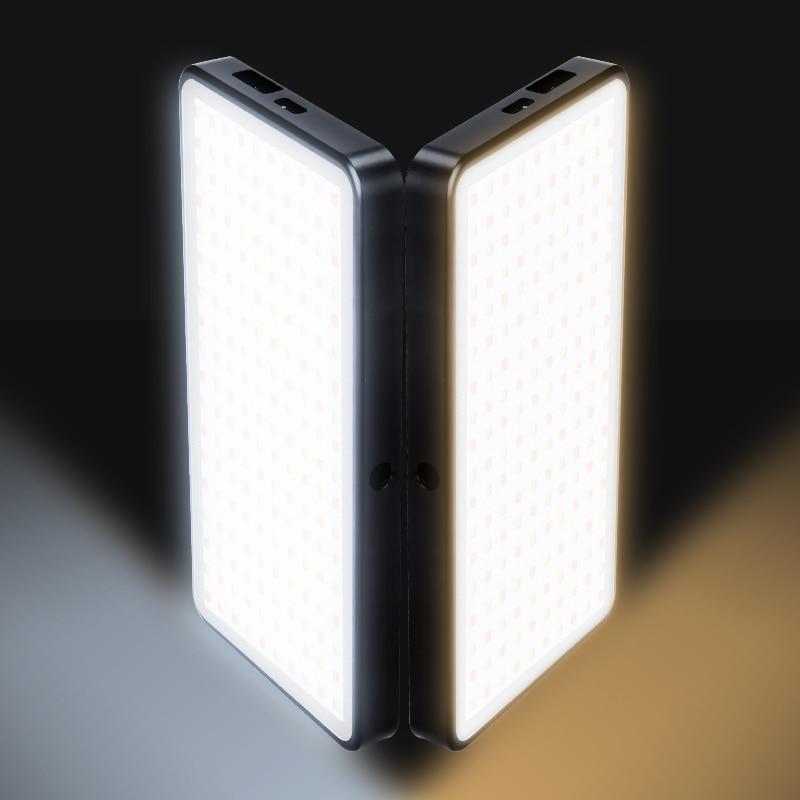 Manbily MFL 06 調光可能なミニ LED ビデオライト 3000 K 6500 K でカメラ 180 LED デジタル一眼レフ写真照明ランプ  グループ上の 家電製品 からの 写真用照明 の中 3