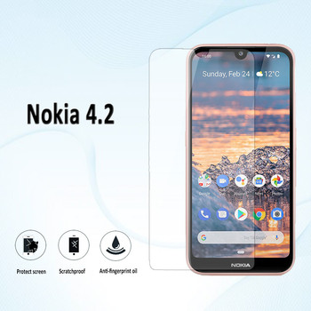 Перейти на Алиэкспресс и купить 9H 2.5D Закаленное стекло для Nokia C2 C1 Nokia 4,2 Защитная пленка для экрана
