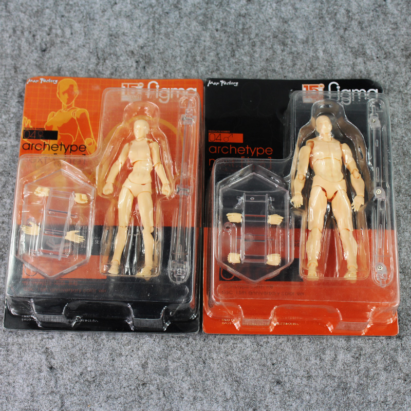 Newest Figma He She PVC Action Figure Human Body Kun Chan Joints Male Female Nude Movable Dolls Anime Models Collections For Kid