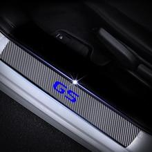 4D Carbon Fiber Vinyl Sticker Car Door Sill Protector Scuff For Lexus GS Series Door sill guard Plate Interior Car Accessories недорого