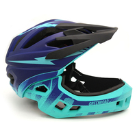 Kids fullface helmet children bicycle helmet protection Sports red road mtb mountain cycling helmet downhill race bike equipment
